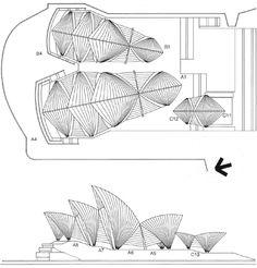 Sydney Opera House / Jørn Utzon via ArchDaily | Architectural Sketch ...