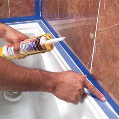 How To Caulk A Shower Or Bathtub Bathtubs Beads And House - Bathtub cocking