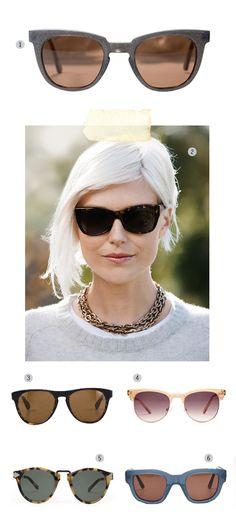 I want these sunglasses, necklace...and the sweater and the hair.