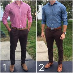 """5,987 Likes, 231 Comments - Chris Mehan (@chrismehan) on Instagram: """"After some of your comments yesterday, I decided to take these @jachsny brown chinos and style them…"""""""