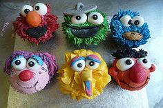 Great Sesame street cupcake ideas!