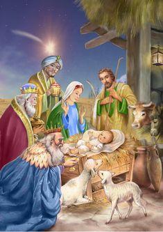 Christmas Nativity Scene, Christmas Scenes, Christmas Pictures, Christmas Art, Christmas Decorations, Christmas Garden, Nativity Scenes, Christmas Bells, Mery Chrismas