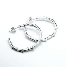 Branch - Silver Hoop #branch #silver #hoop #earrings