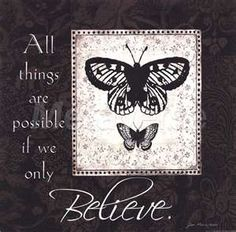 Believe by Jo Moulton art print