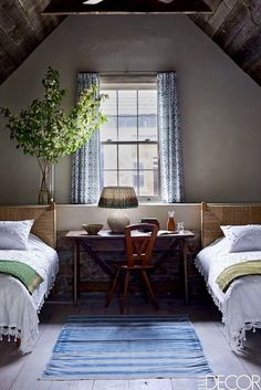 Bedroom Ideas for Small Rooms Small Bedroom, Small Bedroom Furniture Home Bedroom, Bedroom Furniture, Bedroom Decor, Bedroom Ideas, Bedroom Curtains, Design Bedroom, Warm Bedroom, Blue Curtains, Bedroom Colors