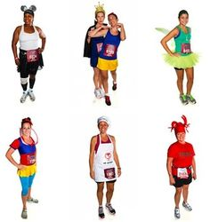 Some costumes from Wine & Dine Half Marathon