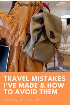 Travel mistakes are common, but you can learn how to avoid them with the right knowledge. Here is my guide to learn about my mistakes as well as common travel pitfalls so you can avoid them on your next trip. Travel Jobs, Travel Advice, Travel Usa, Travel Hacks, Long Haul Flight Tips, Best Travel Books, Best Travel Backpack, Best Airlines, International Travel Tips