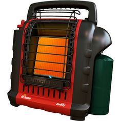 Mr. Heater Portable Buddy Heater.  This warmed our tent up real quick in those early mornings when you didn't want to get out of your sleeping bag. Also extra heat for cold nights at youth sporting games. Auto-shutoff if it falls or gets knocked over.