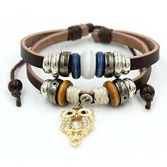 Bluegrass Charm Golden Night Owl Pendant Multistrand Leather Braided Hand-knitted Bracelet,Adjustable Bluegrass http://www.amazon.com/dp/B017PYZ468/ref=cm_sw_r_pi_dp_OZ8vwb1JWTY1X