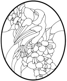 Birds, Flowers and Butterflies Stained Glass Pattern Book 2