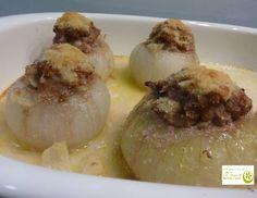 Los Postres de Elena: Cebollas rellenas. http://www.lospostresdeelena.com/2017/03/cebollas-rellenas.html #Cocina #Gastronomía #Tenerife #Canarias #España #Cebolla #SinHuevo