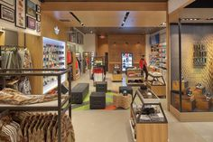 WOODEN STORE INTERIORS! adidas originals shop in shop at Footaction, Houston store design