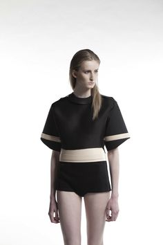 <p>Much like her cuts and approach to design, Marion de Raucourt's aesthetic is sharp, sculptural and timelessly innovative. Inspired by the packaging system of construction, her collection 'Nowmansland' is comprised of black and nude pieces that, despite being industrially minimal in appearance, flirt with the feminine to create a functional and consistent collection of forward-thinking,…</p>