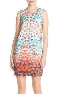 Charlie Jade Print Silk Shift Dress