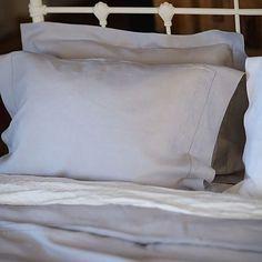 Pillow Silver Linen Hemstitch