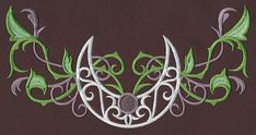 Elven Court Crescent Moon Curve   Urban Threads: Unique and Awesome Embroidery Designs