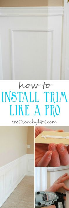 Tips from a pro on how to install molding in your home DIY style.
