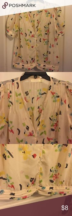 Floral, delicate blouse Excellent condition. I loved it but just not my style anymore! Urban Outfitters Tops Blouses