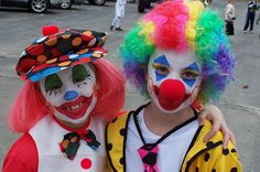 Young clowns