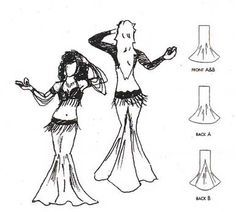how to make a belly dance skirt - Google Search