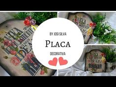 DIY-Pátina, stencil e carimbo/Placa porta chaves com Josi Silva-#innovacarimbos - YouTube