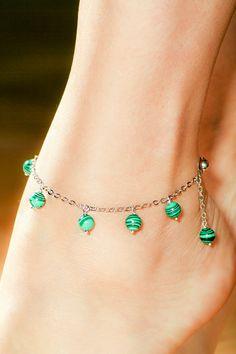 Malachite Ankle Bracelet Free Shipping