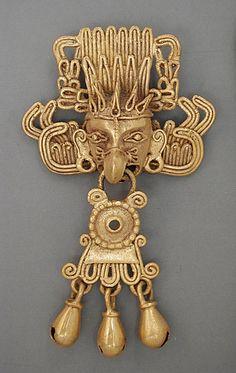 Mexico, Oaxaca, Mixtec (?) | Pendant, A.D. 1100-1520 | Gold