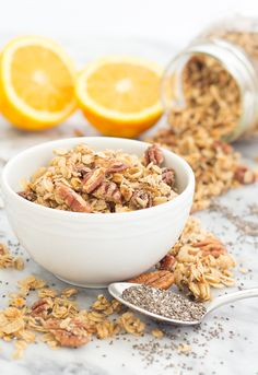 13. Orange Chia Granola #healthy #granola #recipes http://greatist.com/eat/homemade-granola-recipes-that-are-healthy