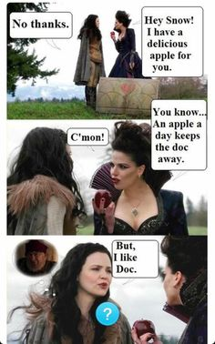 Awesome Evil Queen Regina and Snow in an awesome S2 episode of Once