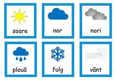 Weather Activities in Romanian, Starea vremii fise in limba romana Weather Activities, Spring Activities, Learning Activities, Science Resources, Science Lessons, Teacher Resources, Learning Clock, Romanian Language, Weather Lessons