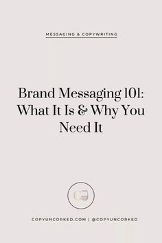 Brand Messaging What It Is Branding Your Business, Personal Branding, Business Marketing, Creative Business, Business Tips, Media Marketing, Marketing Strategies, Marketing Ideas, Digital Marketing
