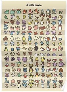 The Original 150: Kawaii Style Posters
