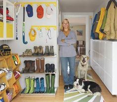 Organized mudroom with links to products used.