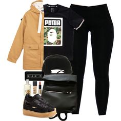 A fashion look from December 2015 by cheerstostyle featuring Petit Bateau, A BATHING APE, Puma, NIKE, LG and NARS Cosmetics