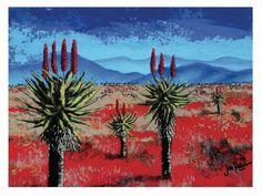 Eastern Cape landscape-Acrylic on board