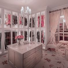 40 Fabulous Closet Designs And Dressing Room Ideas Walk In Closet Design, Bedroom Closet Design, Girl Bedroom Designs, Closet Designs, Bedroom Decor, Rich Girl Bedroom, Dream Closets, Dream Rooms, Wardrobe Room