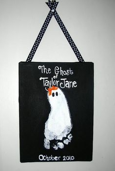 Ghost  - cute and easy Halloween craft