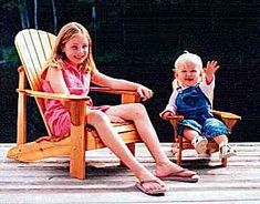 Youth Size Adirondack Chair Plans - Digital Cad PDF
