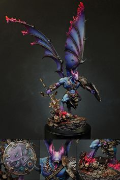 The Internet's largest gallery of painted miniatures, with a large repository of how-to articles on miniature painting Warhammer 40k Figures, Warhammer Paint, Warhammer Models, Warhammer 40k Miniatures, Warhammer Fantasy, Warhammer Armies, Warhammer 40000, Dark Vengeance, Chaos Daemons