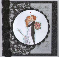 Stamping Bella Stamp - Wedding Card
