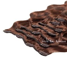 100g Clip-in Hair Body Wave Remy Human Hair Extensions