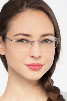 Vince Light Purple Metal Eyeglasses from EyeBuyDirect. A fashionable frame with great quality and an affordable price. Come see to discover your style. Best Eyeglasses, Eyeglasses For Women, Womens Glasses Frames, Ladies Glasses, Glasses For Oval Faces, Rimless Glasses, Fashion Eye Glasses, Light Purple, Face Shapes