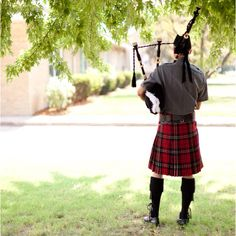 Bagpiper playing outside the church before ceremony. Go Monmouth College Scots! Monmouth College, College Fun, Tins, Celtic, Scotland, The Outsiders, Pride, Traveling, Spirit