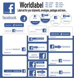 Start promoting your FACEBOOK page to all your customers, friends, business associates and acquaintances. Use these labels and stickers on your packages, mailings, envelopes, shipments so folks will know that they can find you on on Facebook. FREE download at blog.worldlabel.com