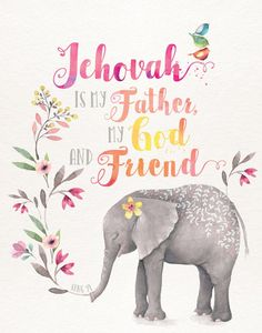 OH, We So so Love Our Father Jehovah, He is Alway's There to help thought thick and thin.I have no idea how others deal with todays problems without Jehovah God Our Dear Merciful Father! Bible Verses Quotes, Bible Scriptures, Caleb Et Sophia, Watercolor Pictures, Watercolor Animals, Pioneer Gifts, Jw Gifts, Life Quotes Love, Spiritual Thoughts