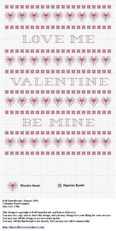 Valentine Band Sampler - Free Pattern