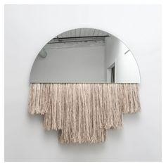 styletaboo:  Ben & Aja Blanc - Half Moon mirror