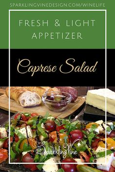 Easy Appetizer – Caprese Salad | SparklingVineDesign | Handcrafted Wine-Inspired Jewelry