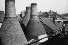 A view of the bottle ovens at Spode's Church Street site
