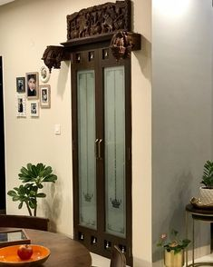 [New] The 10 Best Home Decor Ideas Today (with Pictures) - The Pooja Room. slowly coming together :) . Front Door Design Wood, Pooja Room Door Design, Home Room Design, Home Interior Design, House Design, Ethnic Home Decor, Indian Home Decor, Temple Room, Temple Design For Home
